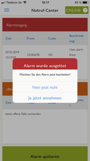 Notruf-Center App